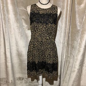 Up by Ultra Pink Animal Print and Lace Dress sz L